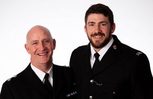 Tom with his Dad, Insp Mike Wilkinson