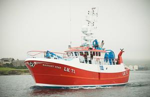 Shetland fishing boat