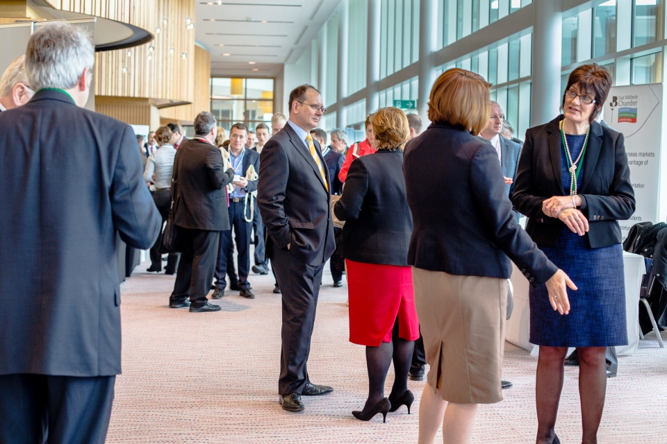 international trade conference - people networking