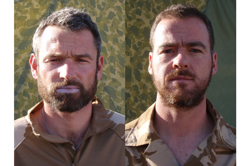 Royal Marines Neil Dunstan and Robert McKibben (All rights reserved.)