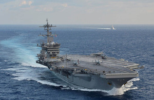 The USS Theodore Roosevelt.