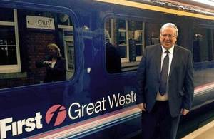 Patrick McLoughlin at station
