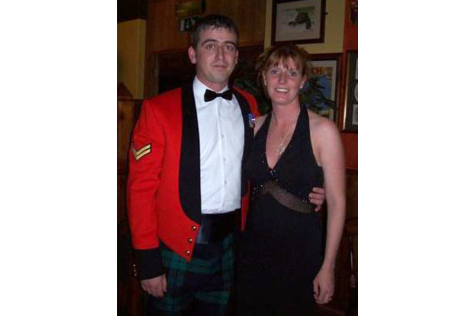 Corporal Barry Dempsey with his wife (All rights reserved.)
