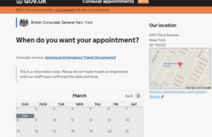 Appointments booking service screengrab