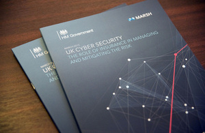 Copies of 'UK cyber security: the role of insurance in managing and mitigating the risk'.
