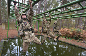 Phase one Army training near Pirbright