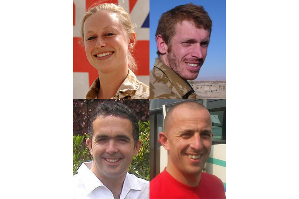 Corporal Sarah Bryant, Corporal Sean Robert Reeve, Lance Corporal Richard Larkin and Paul Stout (All rights reserved.)