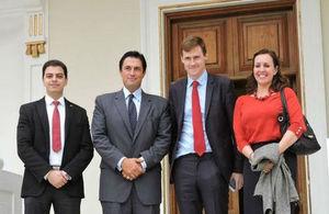 Ambassador John Casson, Consul General Caroline Alcock and Gvernor of Alexandria Hany ElMessiry