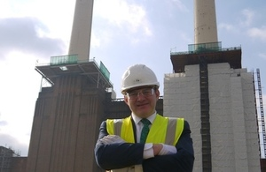 Energy Secretary Ed Davey at Battersea Power Station