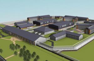 North Wrexham prison plans in 3D