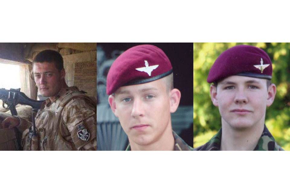 L-R: Private Nathan Cuthbertson, Private Daniel Gamble and Private Charles David Murray (All rights reserved.)