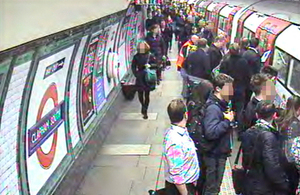 CCTV still of departing incident train