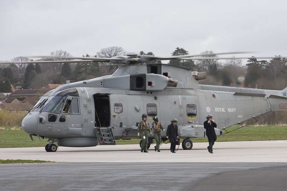 Minister for Defence Equipment, Support and Technology Philip Dunne MP at AgustaWestland's facility in Yeovil