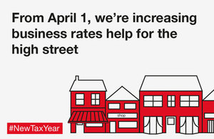 From April 1, we're increasing business rates help for the high street