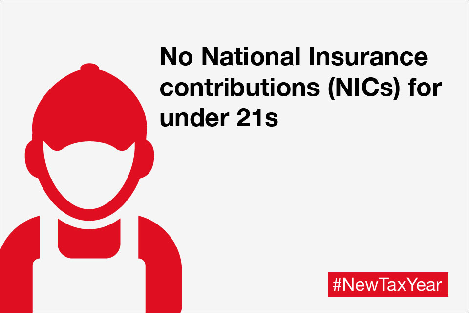 No employer National Insurance contributions (NICs) for under 21s