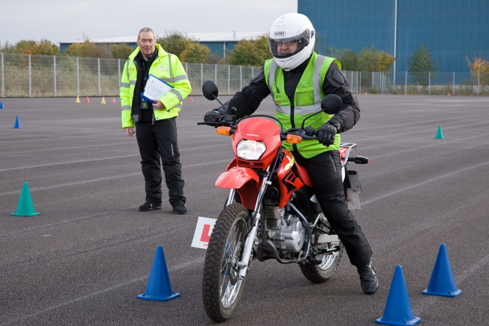 The new 2-part modular motorcycle test was introduced on 27 April 2009