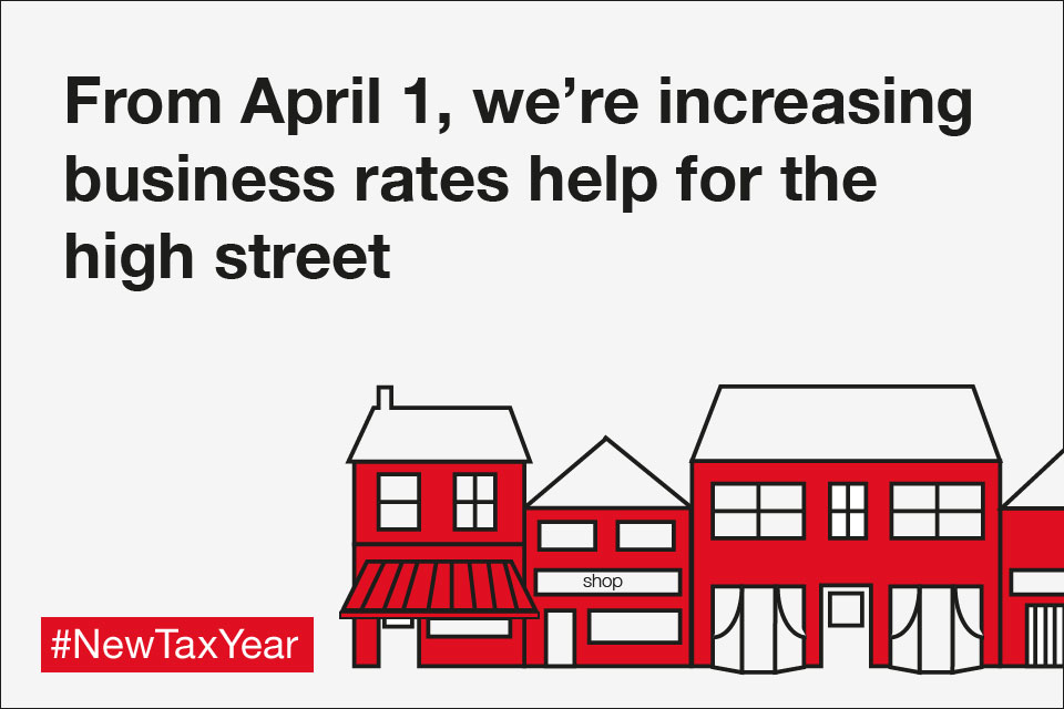 From April 1, we're increasing business rates help for the high street.