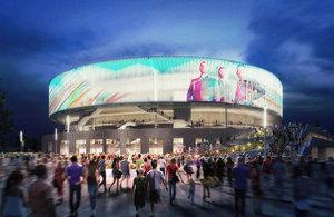 Winning design of the arena