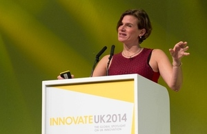 Professor Mariana Mazzucato speaking at the annual Innovate UK event
