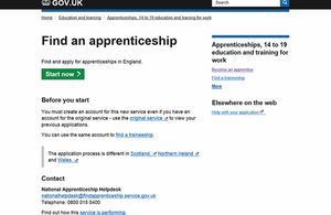'Find an apprenticeship' service live from May.