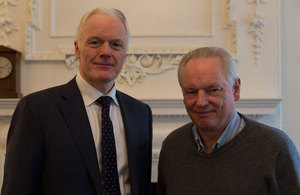 Francis Maude with Microsoft's UK Country Manager, Michel Van der Bel.