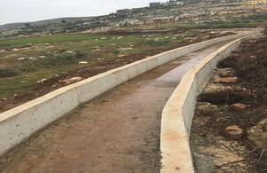 Irrigation canal in Akkar