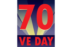 VE Day 70th anniversary logo