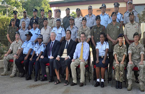 Course participants with Sandhurst instructors