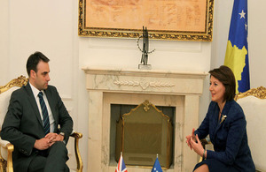 Ambassador O'Connell and President of the Republic of Kosovo Atifete Jahjaga
