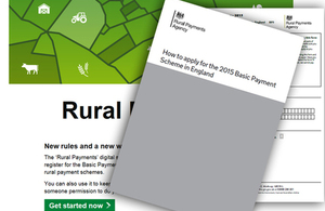 Image of the How to apply for the 2015 Basic Payment Scheme in England