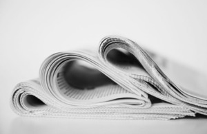 Photograph of newspapers