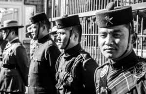 Gurkha soldiers at the British High Commission, Wellington