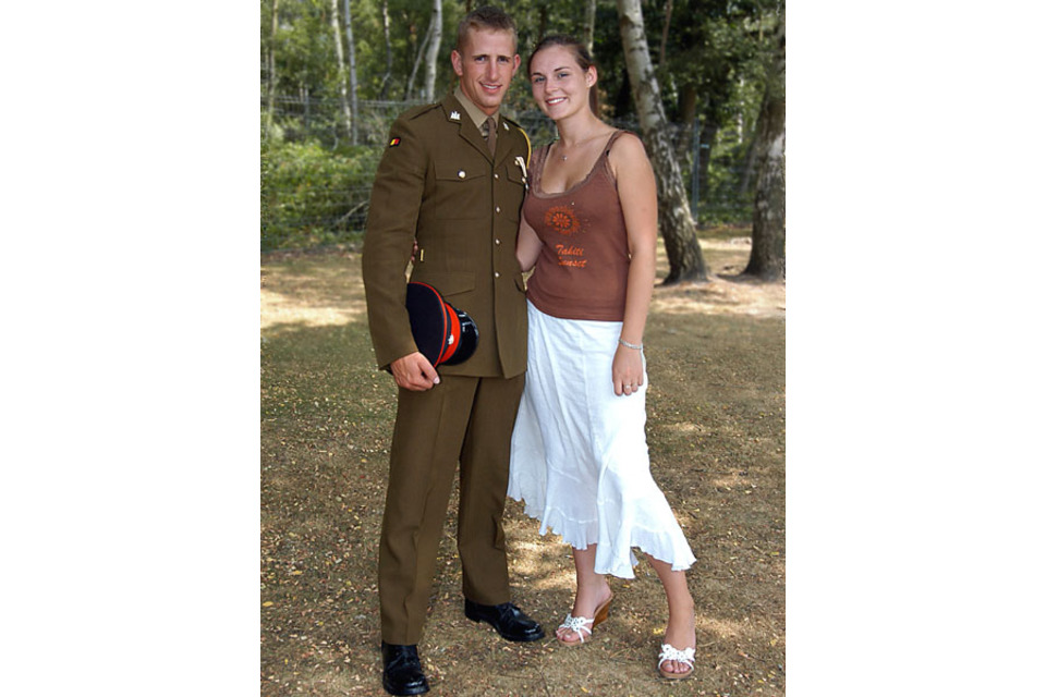 Lance Corporal Alex Hawkins pictured with his girlfriend Louise (All rights reserved.)