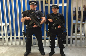 CNC officer PC Barry Owen with a BTP colleague