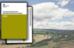 Greening workbook on rural image background
