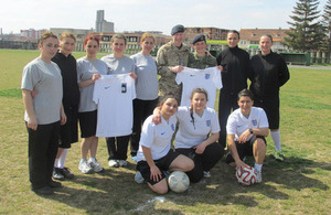 British Army Football Helps Kosovo Security Force Women's Team