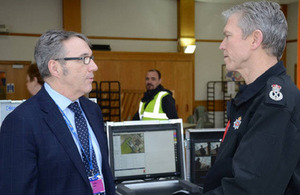 Station Director Colin Weir and Chief Constable Mike Griffiths