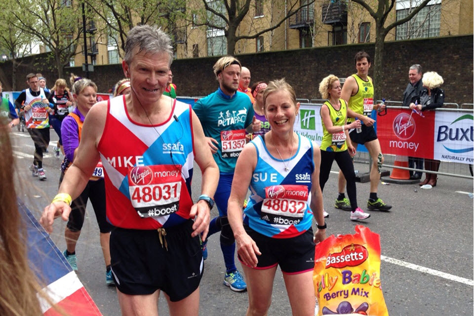 Chief Constable Griffiths and his wife Sue during the race.