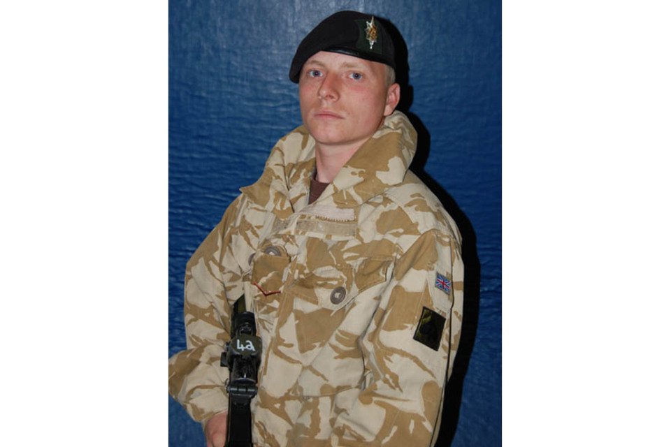"""Lance Corporal Paul """"Sandy"""" Sandford (All rights reserved.)"""