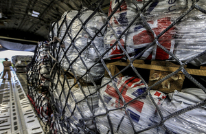 UK aid supplies heading for Nepal. Picture: Sgt Neil Bryden/RAF
