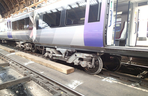 Image showing derailed vehicle at London Paddington station