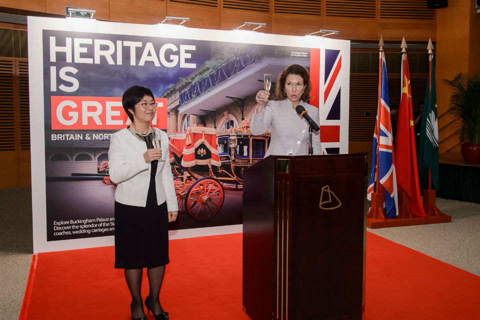 British Consul General to Hong Kong and Macao Caroline Wilson with Ms Chan Hoi Fan, the Secretary for Administration and Justice of the Macao Special Administrative Region Government