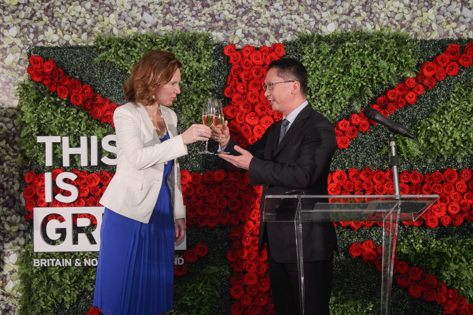 British Consul General to Hong Kong and Macao Caroline Wilson with Secretary for Justice The Hon Rimsky Yuen Kwok-keung, of the Hong Kong Special Administrative Region Government