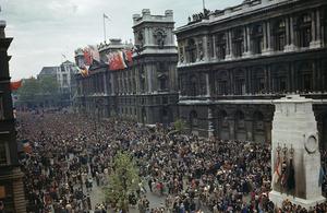 London on VE Day 1945