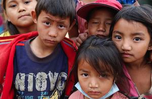 Nepali children, East of Kathmandu