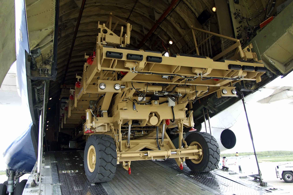 Photograph of heavy lifting machinery
