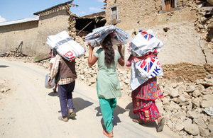 Getting shelter to people in need in Nepal