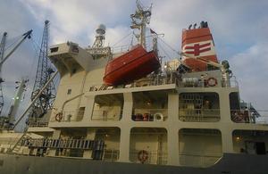 Nagato Reefer accommodation block and lifeboat