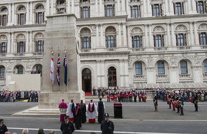Cenotaph service for VE Day in London