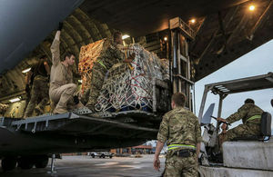RAF aircraft lands in quake-hit Nepal with vital aid